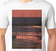 River Alt and the wind farm Unisex T-Shirt