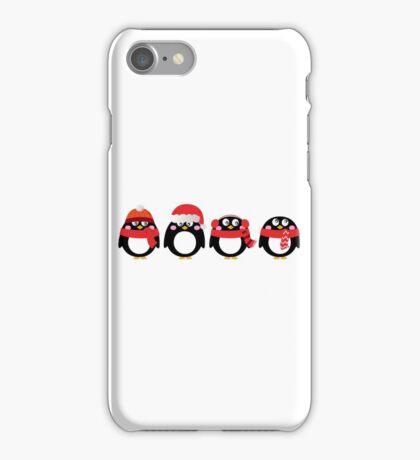 Cartoon penguin christmas set. Vector Illustration iPhone Case/Skin