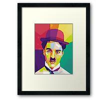 Charlie Chaplin Pop Art WPAP Framed Print