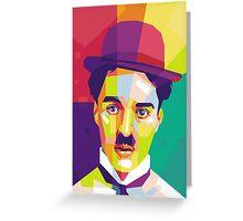 Charlie Chaplin Pop Art WPAP Greeting Card