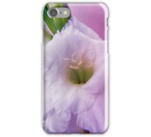Textured gladioli iPhone Case/Skin