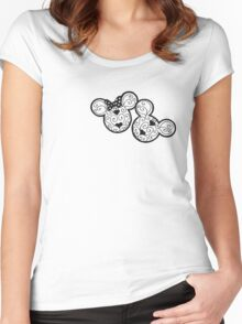Mickey & Minnie Women's Fitted Scoop T-Shirt