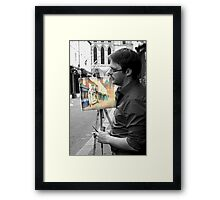not everything is black and white Framed Print