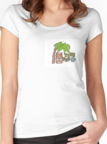 Tiki Bar Women's Fitted Scoop T-Shirt