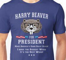 Harry Beaver for President Unisex T-Shirt