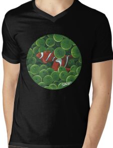 Clownfish - acrylic painting Mens V-Neck T-Shirt