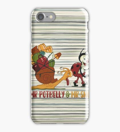 Traveling - series Mr. Potbelly and Mr. Snot iPhone Case/Skin