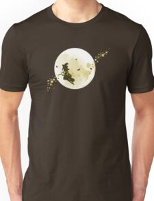 Flying Witch over Full Moon Unisex T-Shirt