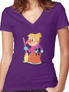 Halloween Kids - Witch Women's Fitted V-Neck T-Shirt