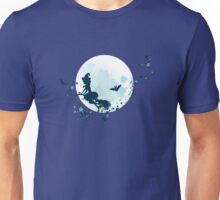 Flying Witch over Full Moon 2 Unisex T-Shirt