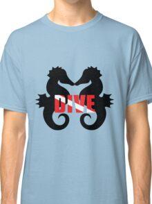 Seahorse scuba diving Classic T-Shirt