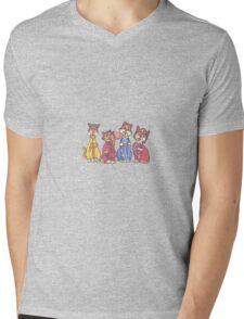 The Beatles as cats Mens V-Neck T-Shirt