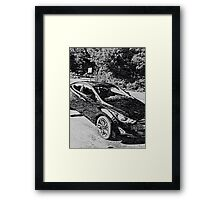 Sleek, sporty, cool car Framed Print