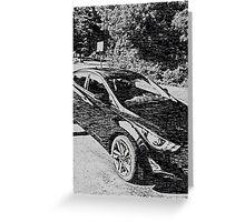 Sleek, sporty, cool car Greeting Card