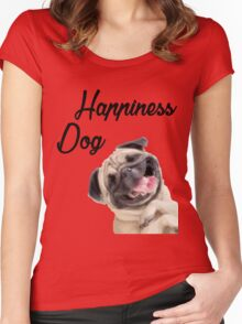 Happiness Dog Women's Fitted Scoop T-Shirt