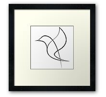 Graphic Bird Framed Print