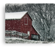 Barn Bluster... products Canvas Print