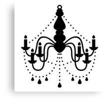 Vintage hand drawn chandelier. New hand-drawn fashion in Shop Canvas Print