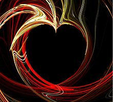 Flaming Heart by MichelleElaine Smith