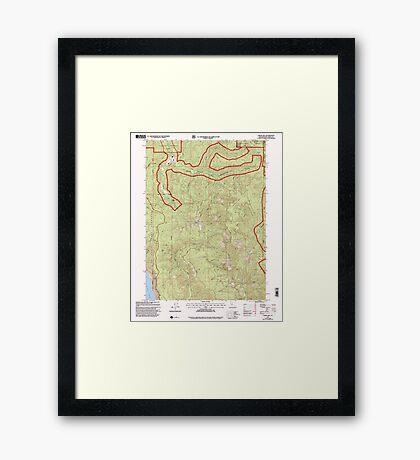 USGS TOPO Map California CA Childs Hill 100179 1997 24000 geo Framed Print