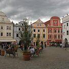 Cesky Krumlov Old Town Square by Elena Skvortsova