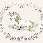 Unicorn,  Nursery art - Nursery decor - Kids room decor - Children's art by PaolaZakimi