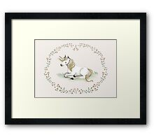 Unicorn,  Nursery art - Nursery decor - Kids room decor - Children's art Framed Print
