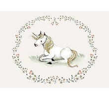 Unicorn,  Nursery art - Nursery decor - Kids room decor - Children's art Photographic Print