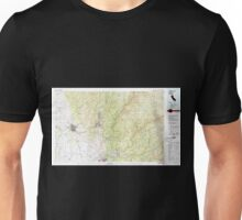 USGS TOPO Map California CA Chico 299063 1980 100000 geo Unisex T-Shirt