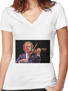 Andre Rieu - Music Maestro Women's Fitted V-Neck T-Shirt
