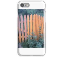 Orange fence iPhone Case/Skin