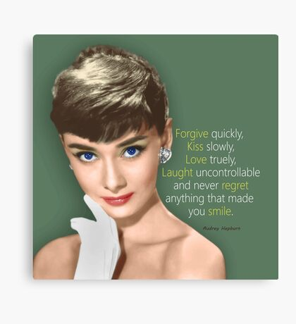 Movie star art - Audrey Hepburn Canvas Print