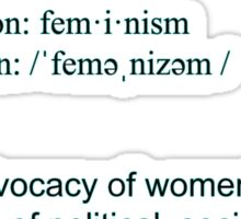 Feminism definition black font Sticker