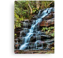 Aqua Veil, Somersby Falls Canvas Print