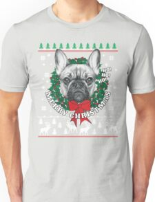 Merry Christmas French Bulldog Unisex T-Shirt