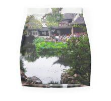 China Green, Photo / Digital Painting  Mini Skirt