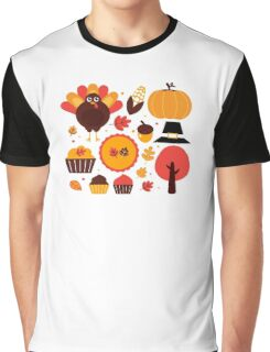 Thanksgiving items set. Vector Illustration Graphic T-Shirt