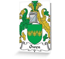 Owen Coat of Arms (Welsh) Greeting Card