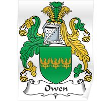 Owen Coat of Arms (Welsh) Poster