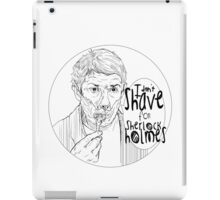 Shave for Sherlock (Lineart) iPad Case/Skin