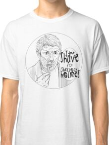 Shave for Sherlock (Lineart) Classic T-Shirt