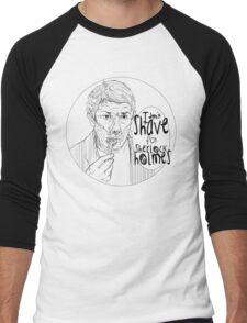 Shave for Sherlock (Lineart) Men's Baseball ¾ T-Shirt