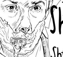 Shave for Sherlock (Lineart) Sticker