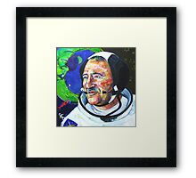 I and Cosmonaut Neil Armstrong painting - 2008 Framed Print