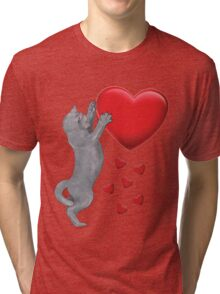 I love my Blue Russian Cat Tri-blend T-Shirt