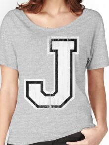 Big Sports Letter J Women's Relaxed Fit T-Shirt