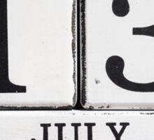 July 13 Sticker