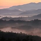 Smoky Mountain sunrise panoramic by dc witmer