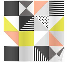 Scandinavian style colorful pattern  Poster
