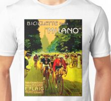 MILANO VINTAGE; Bicycle Racing Advertising Print Unisex T-Shirt